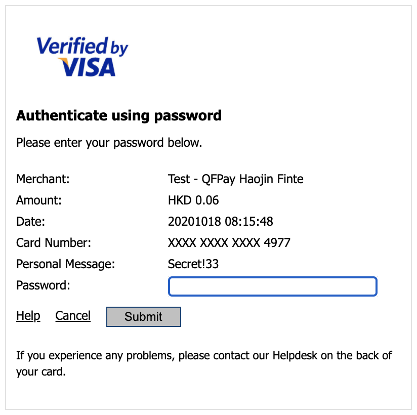 Credit Card Authentication